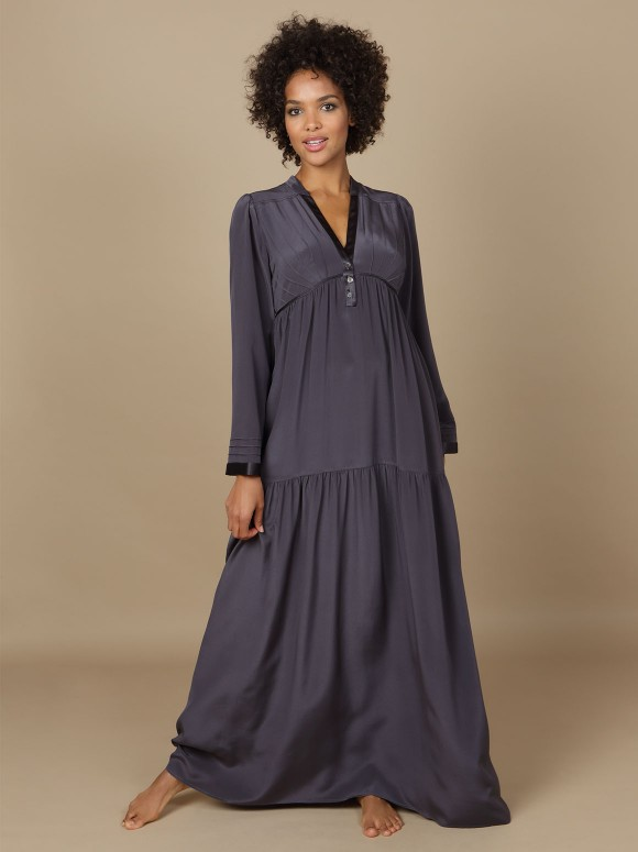 Marjolaine - Long dress Indiscrete 3IND3003 Graphite